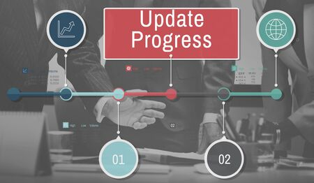 tracking: Update Progress Data Information Networking Tracking Concept