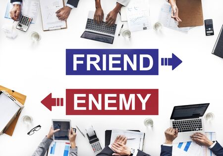 adversary: Friend Enemy Opposite Adversary Dilemma Choice Concept