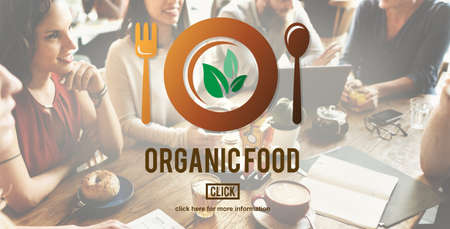 nourishment: Organic Food Healthy Nourishment Concept Stock Photo