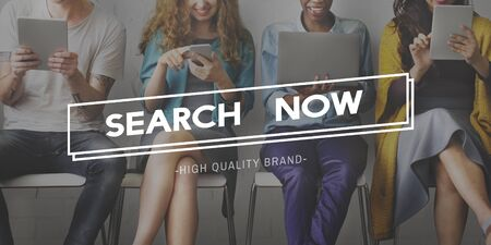 seeking: Search Now Discover Connection Seeking SEO Concept Stock Photo