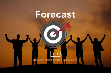 prediction: Forecast Prediction Plan Goal Concept Stock Photo