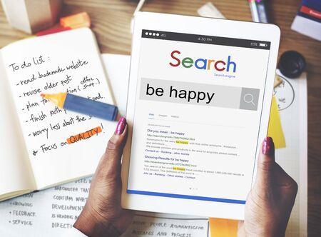 Be Happy Vergnügen Fröhlich Glücklichsein Spaß Konzept