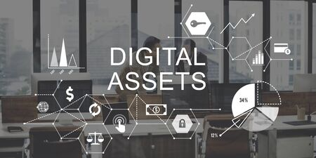 Digital Assets Business Management System Concept