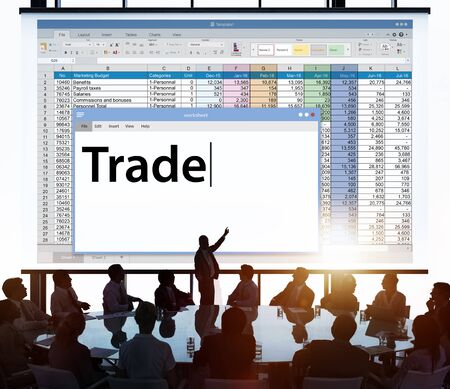 import and export business: Trade Exchange Import Export Business Transaction Concept