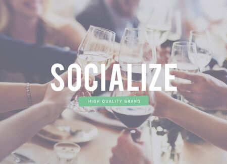 mingle: Socialize Communication Connection People Sharing Concept