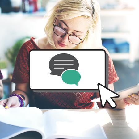 eager: Message Communication Networking Speech Bubble Concept