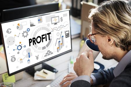 Profit concept on computer 写真素材
