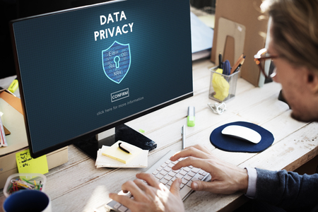 online privacy: Data Privacy Online Security Protection Concept