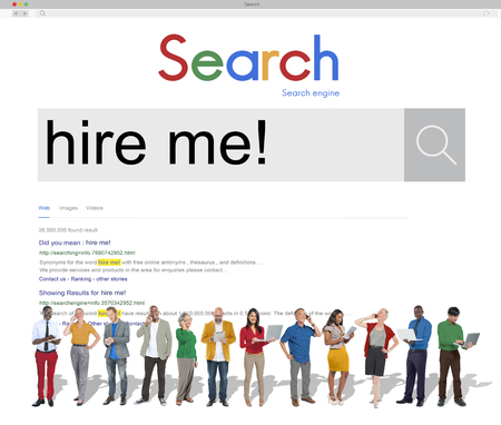 recruiting: Hire me Recruiting Manpower Occupation Jobs Concept