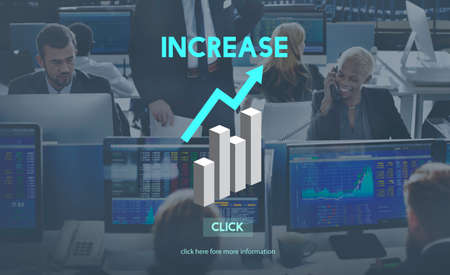 enlarge: Increase Growth Rise Elevation Enlarge Expansion Concept Stock Photo