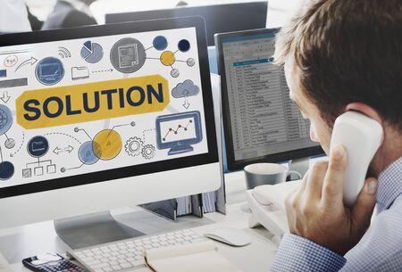 Oplossing Problemen oplossen Ideas Strategie Concept