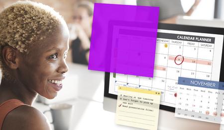 Planificateur de calendrier Planning Organixer Note Concept Banque d'images