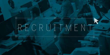 headhunting: Recruitment Employment Headhunting Hiring Job Concept