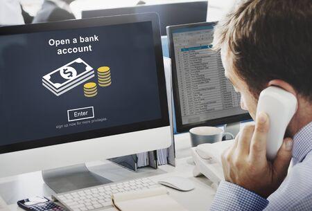 cuenta bancaria: Open a Bank Account Banking Savings Financial Concept