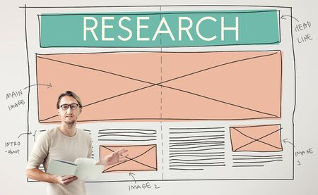 discovery: Research Discovery Explanation Information Concept Stock Photo