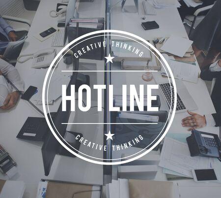 hotline: Hotline Customer Service Guide Helpline Concept Stock Photo