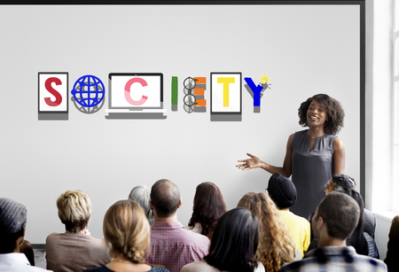 trainee: Society Connection Global Community Unity Citizen Concept Stock Photo
