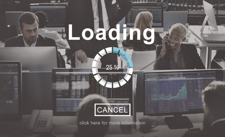 financial occupation: Loading Progress Indicator Interface Concept