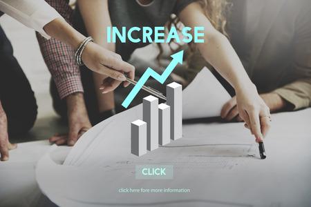성장은 고도 확대 확장 개념 상승이 증가 할 스톡 콘텐츠 - 55779620