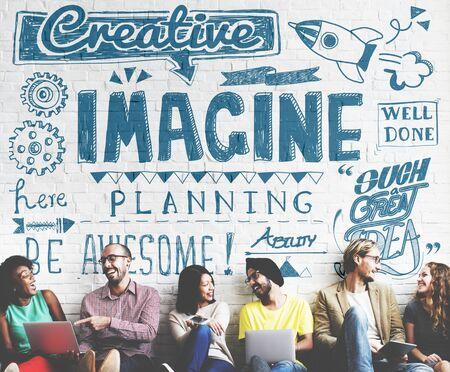 skills diversity: Imagine Imagination Expect Creative Sketch Concept