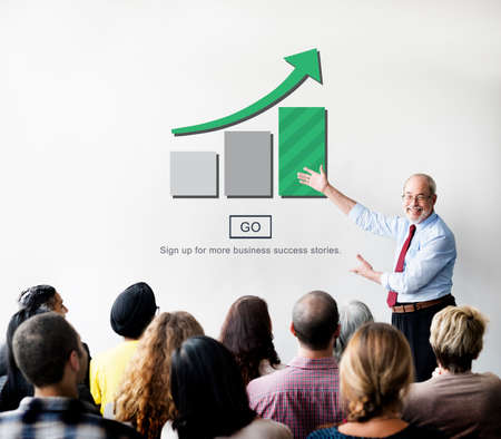 growth: Bar Graph Analysis Increase Growth Concept Stock Photo