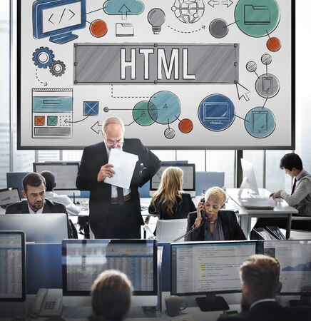html: Homepage Domain HTML Web Design Concept
