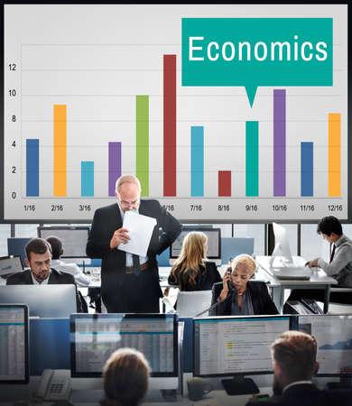 hectic: Economics Financial Growth Change Graph Concept