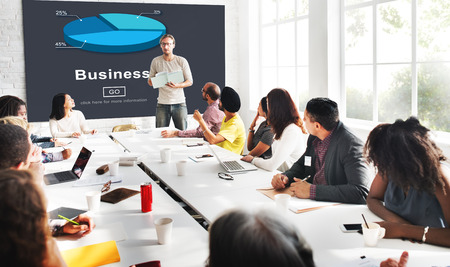 Business Organization Pie Chart Statistics Concept