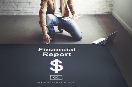 financial concept: Financial Report Dollar Sign Go Concept