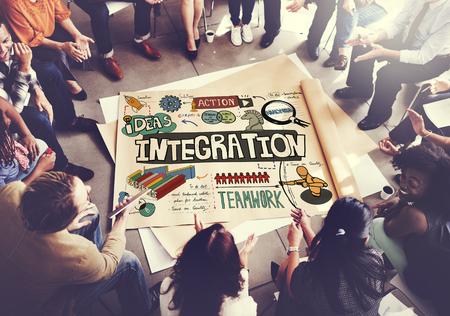consolidate: Integration Blend Combine Merge Unite Consolidate Concept