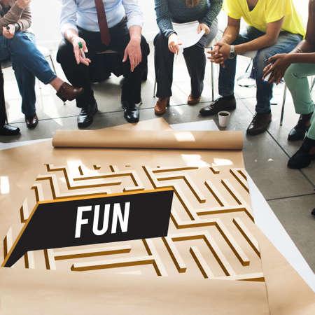 enjoyment: Fun Funny Happiness Enjoyment Joyful Pleasure Concept Stock Photo