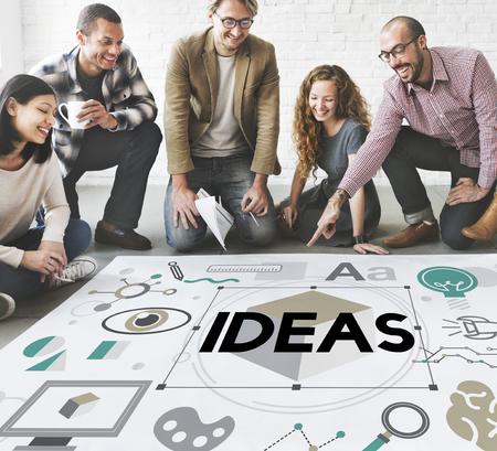 illustrates: Ideas Innovation Graphic Inspiration Artistic Concept