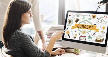 Conceptualize Conception Conceptual Ideas Plan Concept Banco de Imagens