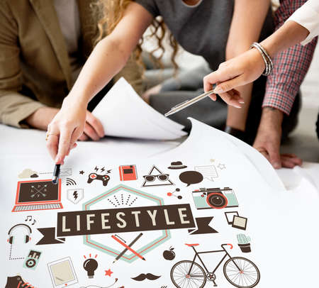casual business team: Lifestyle Hobbies Media Technology Concept