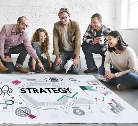 tactics: Strategy Tactics Vision Solution Process Concept Stock Photo