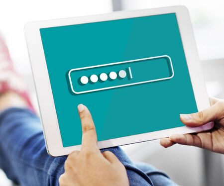 security technology: Password Security Login Technology Business Concept