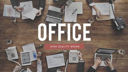 bureaucratic: Office Workplace Headquarters Building Workspace Concept