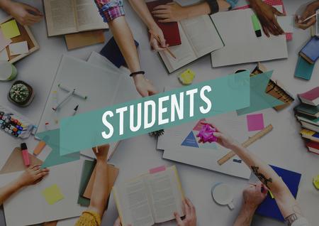 intern: Students Student Academic Intern Novice Trainee Concept Stock Photo