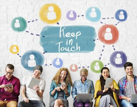 keep in touch: Keep in Touch Communication Connection Relationship Concept