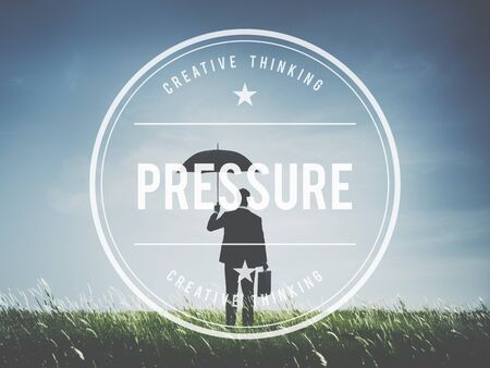 persuade: Pressure Force Pushing Stress Coerce Persuade Concept
