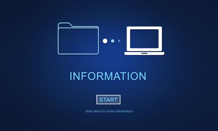 sharing information: Information Details Facts Communication Sharing Concept Stock Photo