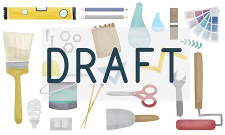 draft: Draft Drawing Designer Interior Plan Project Concept