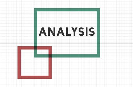 Analyse concept Stockfoto