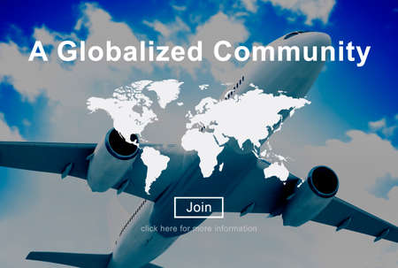 A Globalized Community Worldwide Connection Network Concept Stock Photo