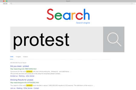 protesting: Protest Protesting Challenge Complaint Refuse Concept Stock Photo