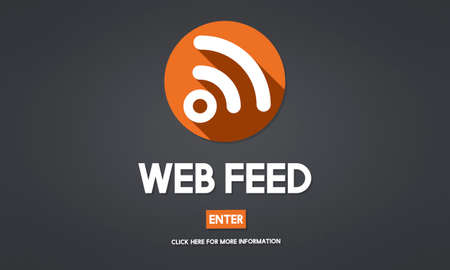 web feed: Web Feed Hashtag Internet Content Digital Media Concept