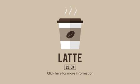 caffeine: Latte Coffee Milk Foam Froth Caffeine Beverage Concept Stock Photo