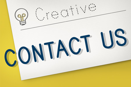 enquiry: Contact Us Communication Customer Service Concept Stock Photo