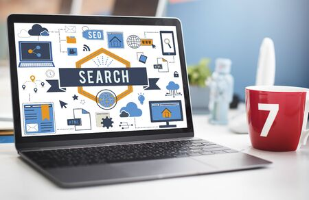 searching: Search SEO Media Internet Connection Concept Stock Photo