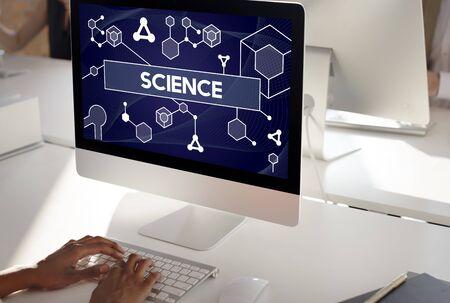 Concetto di DNA Atom Dna di cellule staminali di scienza